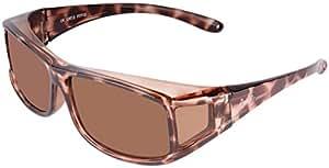 Rapid Eyewear SUR-LUNETTES DE SOLEIL POLARISÉES FEMMES écaille de tortue, pour course à pied, cyclisme, conduite, sport. Lunettes solaires correctrices avec protection anti UV 400