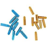 Sharplace Set de 18pcs Protecteur / Économiseur Vol De Fléchettes Dart Flight Saver en Alliage d'Aluminium - Bleu , Doré