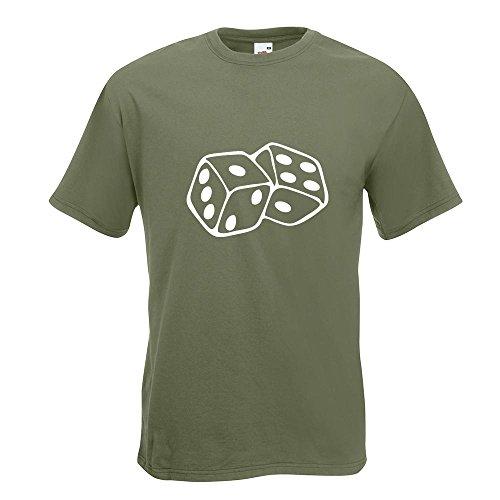 KIWISTAR - Würfel T-Shirt in 15 verschiedenen Farben - Herren Funshirt bedruckt Design Sprüche Spruch Motive Oberteil Baumwolle Print Größe S M L XL XXL Olive