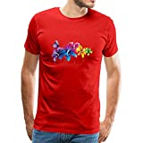 Photo de chenjing custom T-Shirt Hommes Casual Linen Shirts À Manches Courtes Color Flower and Butterfly Logo Col Rond Tops par chenjing custom