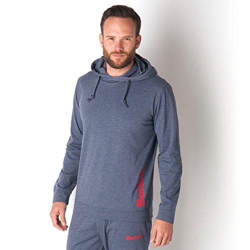 Mens Bench-Felpa con cappuccio e pantaloni da Jogging, In vari colori rosso blu marino X-Large