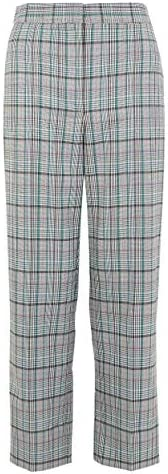 Marks & Spencer Women's Evie Checked Straight 7/8th Trousers, G