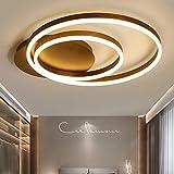 LED Deckenleuchte I CBJKTX Deckenlampe 70cm 64W dimmbar mit Fernbedienung Wohnzimmerlampe Alum Kronleuchte Kinderzimmer Lampe Esszimmerlampe Schlafzimmerlampe Badezimmerlampe Flurlampe (70cm-64W)