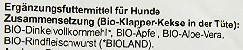 Kay Klein Klapperkeks (14 Stück, 100g) Bio Hundesnack, 2er Pack (2 x 100 g) - 2
