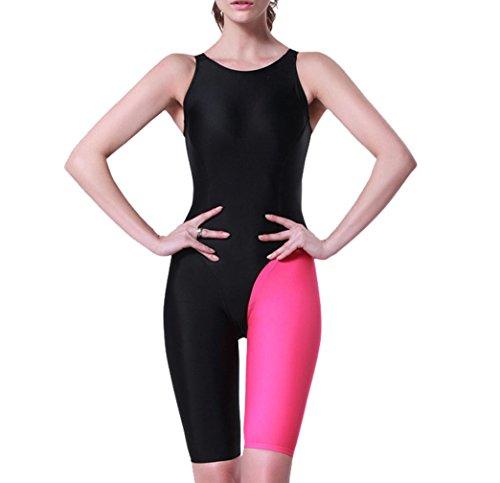 E Support® Damen One Piece Sleeveless UV Schutz Schutzkleidung Wetsuit Neoprenanzug Frauen Bescheidenheit Jumpsuit Badeanzug