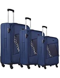 Nasher Miles Bogota Expander Soft-Side Luggage Set Of 3 Trolley|Travel|Tourist Bags (55, 65 & 75 Cm)