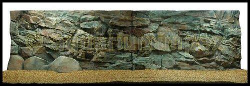 3D Aquarienrückwand 200x60 Rock