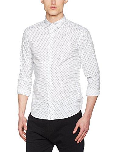 ONLY & SONS Herren Freizeithemd Onsclaes Ls Shirt Mehrfarbig (Bright White)
