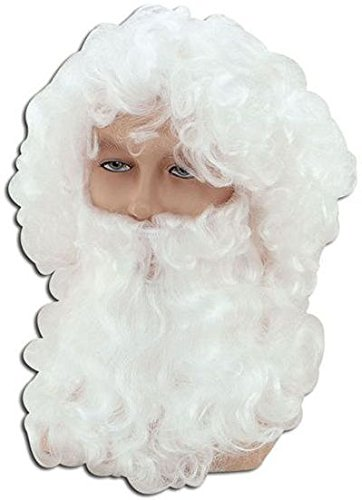 Bristol Novelty BW019Budget Weihnachtsmann Perücke mit Bart, weiß, Einheitsgröße