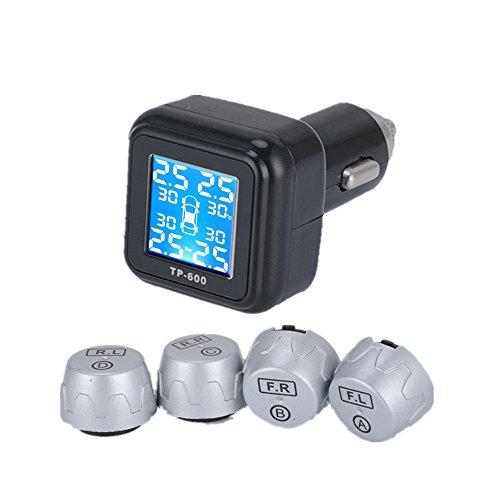 Preisvergleich Produktbild GZCRDZ Smart Auto TPMS Reifendruckkontrollsystem Zigarettenanzünder Digital LCD Display Auto Alarmanlagen