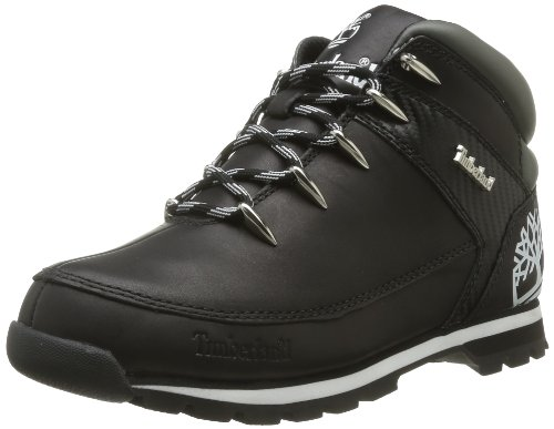 Timberland  Euro Sprint Black Sm,  Stivali uomo Nero (Noir (Black Smooth))