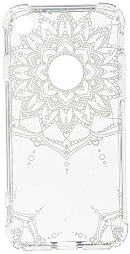 iPhone 6 hüllt,iPhone 6s hüllt, LUOLNH Weiß Henna Mandala Schlank Stoß- Klare weiche flexible TPU rückseitige transparent Abdeckung für Apple iPhone 6/6s [4,7 Zoll] White-D