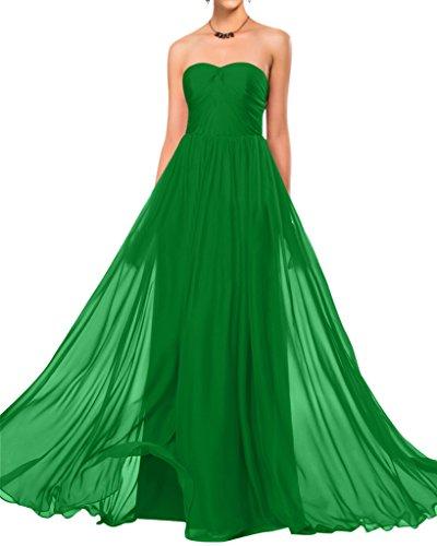 Sunvary semplice, senza spalline in Chiffon Elegante vestito da damigella d'onore abito da matrimonio Green