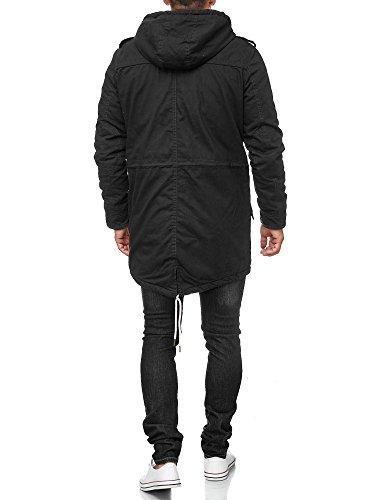 !Solid Herren Tejs warm gefütterter Parka mit Fellkapuze Winter Mantel Jacke Winterjacke Wintermantel 9000 Black S - 5