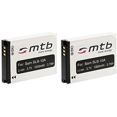 2x Batería SLB-10A para Samsung WB150 WB150F WB151 WB152... WB500 WB550... (ver descripción)
