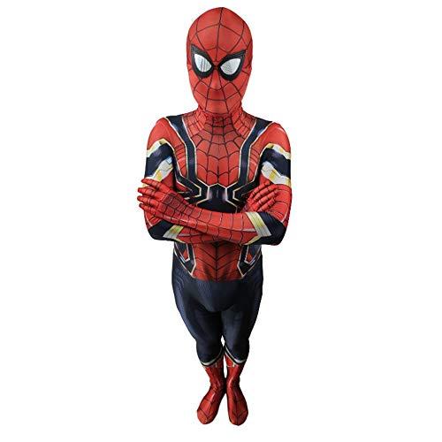 DSFGHE Zurück Zum Eisernen Spiderman-Kostüm Cosplay Siamesische Strumpfhose Glowing Spider-Man Dress Up Performance-Kostüm Prom Dress,Adult-XXXL