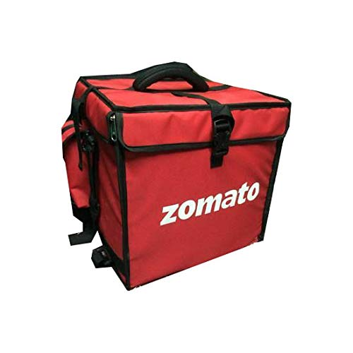 Dicure Non Woven Canvas Zomato Food Delivery Bikers Bag (Red)