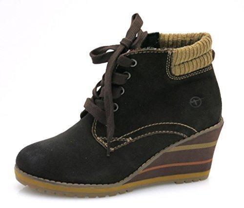 Tamaris Wedge Keilstiefelette Stiefelette Lederstiefelette Leder Schuhe 1-25217
