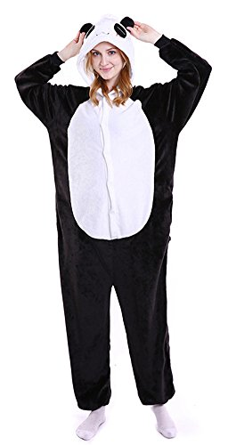 gurumi Panda Kostüm halloween Kostüme Panda Schlafanzug Kinder Party Karnevals Kostüm Cosplay Tierkostüm (Halloween Kostüm Reißverschluss)