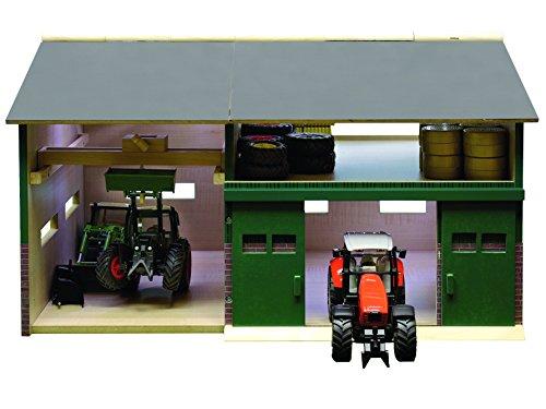 Kids Globe 610410 - Bauernhof Werkstatt Schuppen Maßstab 1:32 41 x 54 x 32 cm, passend zu Siku