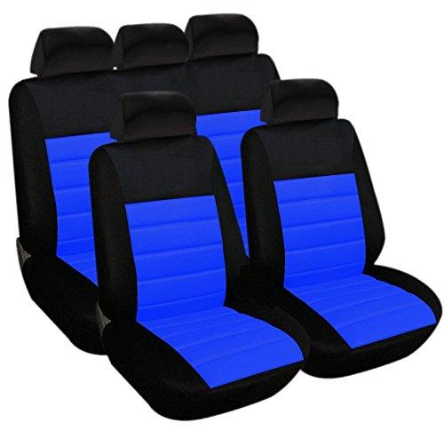 akhan sb403 – QUALITÉ Housse de siège Auto Housses déjà Housses Housse avec airbag latéral Noir Bleu