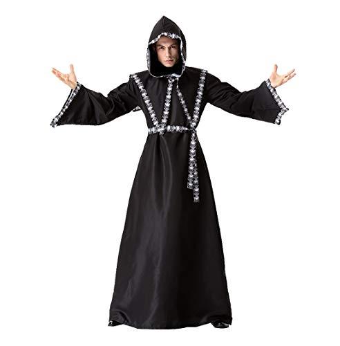 CTOOO 2018 Herren Halloween Cosplay Party Kostüm Männlicher Zauberer Robe Party Kostüm ()