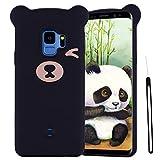ChoosEU Compatible para Funda Samsung Galaxy S9 Silicona Dibujos Oso Panda Creativa Carcasas para Chicas Mujer Hombres, Case Antigolpes Cover Caso Protección Cordón con Correa - Rosado