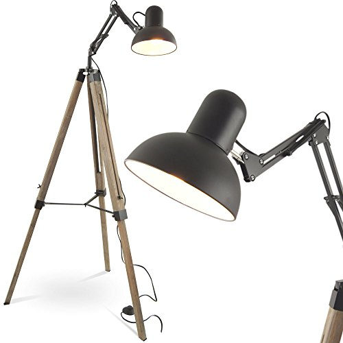 MOJO Stehleuchte Tripod Stehlampe Urban Industrial Design Lampe l41