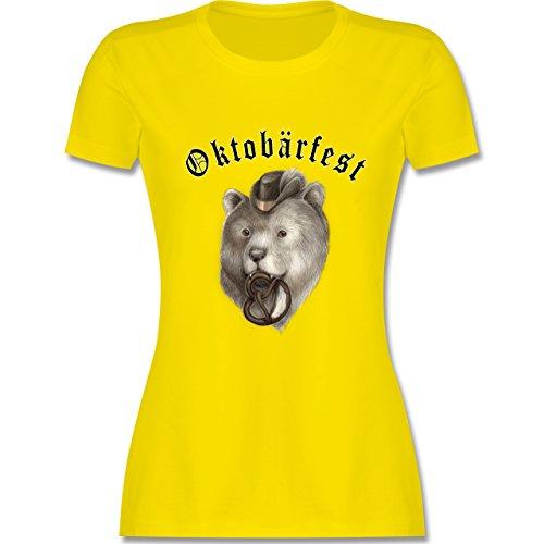 Oktoberfest Damen - Oktobärfest - tailliertes Premium T-Shirt mit Rundhalsausschnitt für Damen Lemon Gelb
