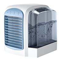 Portable Air Conditioner Usb Mini Small Air Conditioner Silent Powerful Air conditioners Mobile 3 in 1 Humidifier Air purifiers Air coolers 3 Speed Mode(Blue)