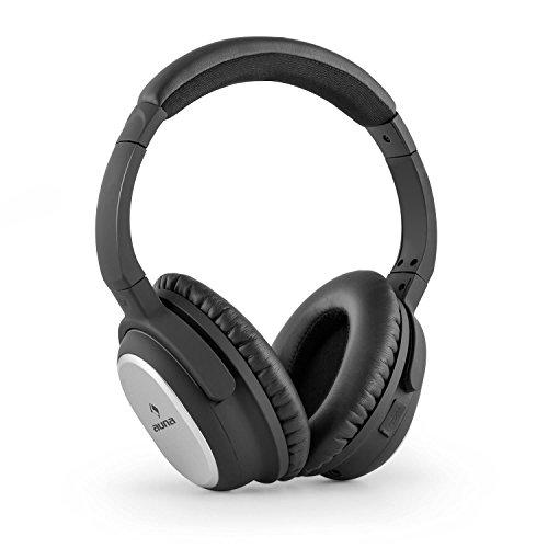 auna BNC-10 - Kopfhörer mit Geräuschunterdrückung, Headphones, aktive Noise Cancelling, Bluetooth, Kopfhörer, 4.1 Hardcase, Akku