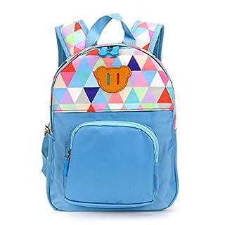 Sumnacon Toddler Children Nursery Bag Preschool Kindergarten Canvas Backpack Schoolbag Travel Backpack Daycare Bag for 2-4years (Blue)