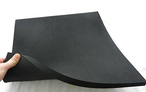 Zellkautschuk Moosgummi Polster Motorradsitz Höcker ca. 50 x 50 x 3 cm, schwarz