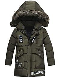 520ae71c2dbc9c Blouson Garçon, Manteaux d hiver Fourrure Hoodies Couche épaisse Chaud  Veste à Capuche Enfant