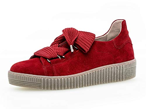 Gabor Damen Low-Top Sneaker 33.330, Frauen Sneaker,Halbschuh,Schnürschuh,Strassenschuh,Business,Freizeit,Dark-Opera (fumo),41 EU / 7.5 UK