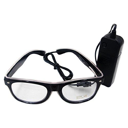 dexinghaoye Licht LED Sonnenbrille Eyewear Shades für Nachtclub Party EL Draht Brille bis Glow eisblau As the picture show
