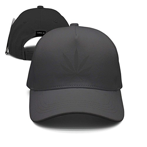 Black Weed Leaf Unisex Baseball Cap Snapback Hip Hop Caps Fitted Sport Sun Hats