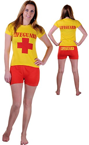 Islander Fashions Mens Womens Rettungsschwimmer Miami Beach Life Saver Kost�m Boys Rescue Beach Party Abendkleid Large / X Large Womens