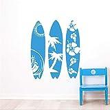 Lbonb Sea Sport Wandtattoo New Design Surfbrett Wandaufkleber Waves Sea Beach Wand Kunst Wandbild Creative Drei Surfbrett Style Abziehbild 57 * 69Cm