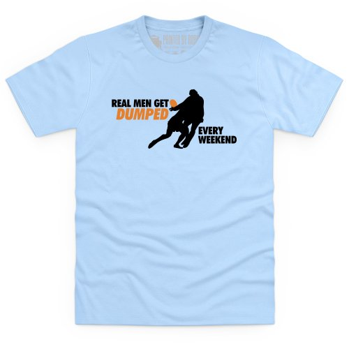 Dumped T-Shirt, Herren Himmelblau