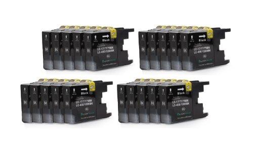 Preisvergleich Produktbild 20x schwarz XL Patronen kompatibel zu Brother LC1280BK für Brother MFC-J5910DW, MFC-J6510DW, MFC-J6710DW, MFC-J6910DW