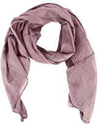 Zwillingsherz Seiden-Tuch für Damen Mädchen Uni Elegantes Accessoire/Baumwolle/Seiden-Schal/Halstuch/Schulter-Tuch oder Umschlagstuch einsetzbar