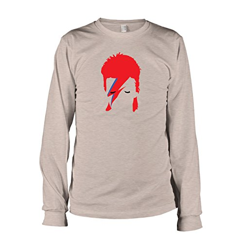TEXLAB - Ziggy - Herren Langarm T-Shirt, Größe XL, (Bowie Stardust Ziggy Kostüm)