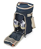 Greenfield Collection Super Deluxe Admiral Blue Wine Cooler Bag for Two People