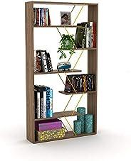 Home Canvas Modern Book Shelves for Living Room or Study Room Book Shelve, Easy Assembly Book Shelf - Walnut a