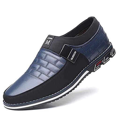 uomo scarpe mocassini stringate eleganti oxford basse casual elegante classiche slip on comode lacci loafer antiscivolo classic(blu,39 eu,24.5tacco con le dita dei piedi