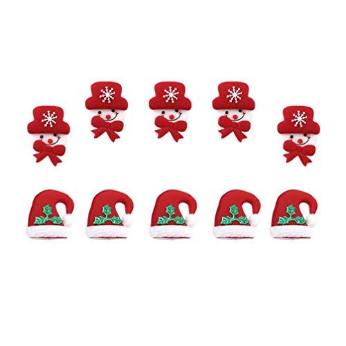 Amosfun 20 piezas parches navideños parche bordado