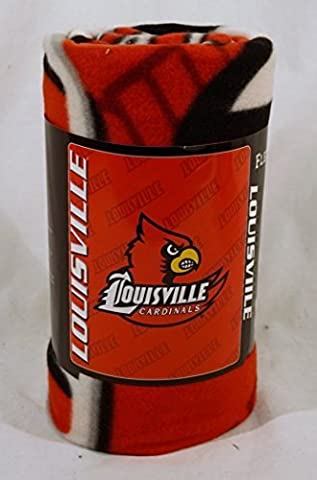 NCAA - Louisville Cardinals 50x60 Mark Series Fleece Throw by Northwest Blanket Co.