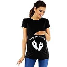 Zeta Ville - Camiseta Divertido Para Embarazadas de Bebé Pies - Para Mujer 199c