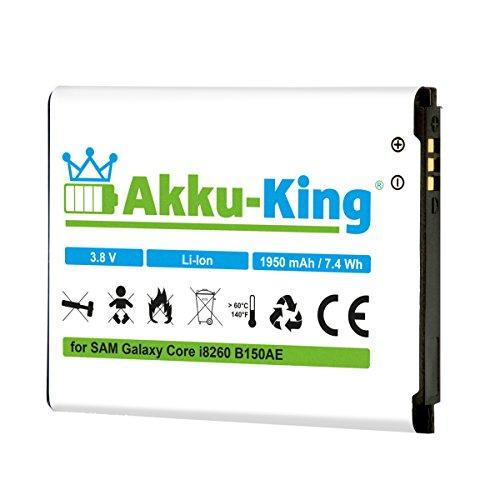 Akku-King Akku für Samsung Galaxy Core GT-I8260, Core Duos GT-I8262, Core Plus G3500 - ersetzt B150AE, B150AC, B185BE, B185BC - Li-Ion 1950mAh